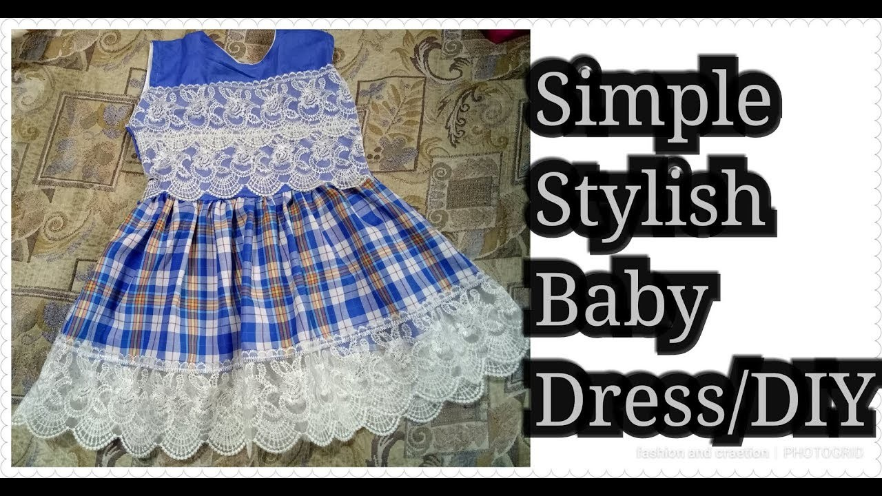 714fd5a14 HOW to make Simple Stylish Baby Dress.summer baby frock.Baby frock ...