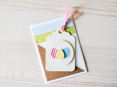 How to make : Spring Card with Easter Eggs | Kartka Wielkanocna z Pisankami - Mishellka #282 DIY