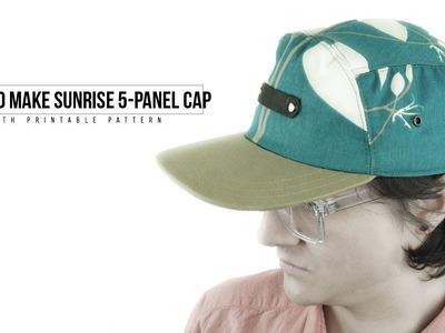 How to Make Sunrise 5 Panel Cap