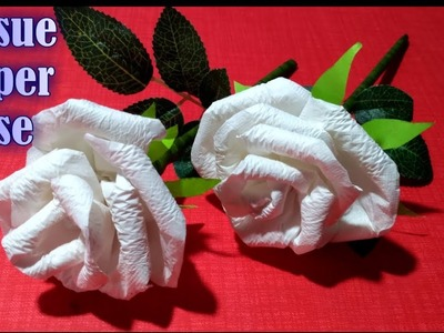 How How To Make Tissue Paper Rose Flower How To Make Tissue Paper