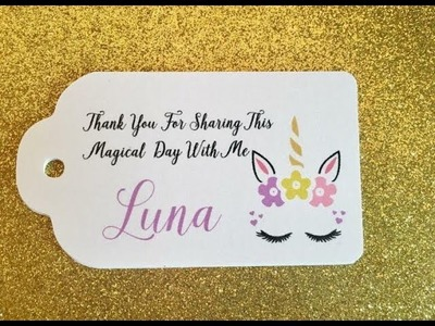 How to make Unicorns Favors tags