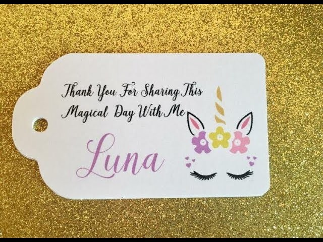 How to make Unicorns Favors tags