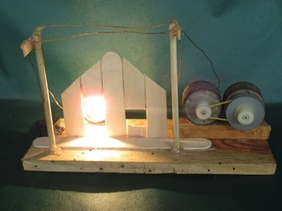 How to make Zero energy Light Bulbs with  DC motor without Magnets - Work 100%