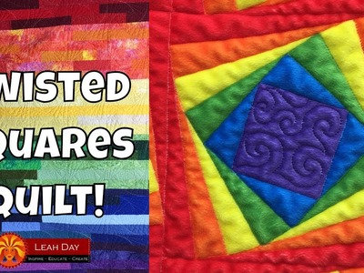 How to Quilt in Reverse! Twisted Squares Quilting on Rainbow Road