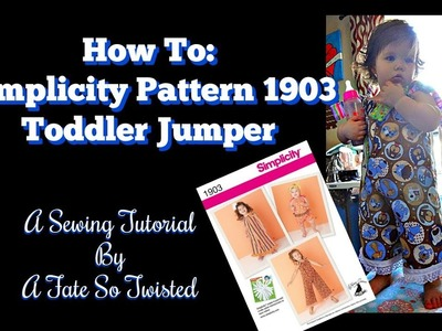 How To Sew An Easy Toddler Jumper (Simplicity Pattern 1903)