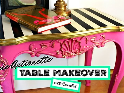 HOW TO: Table Makeover (Marie Antoinette Style)