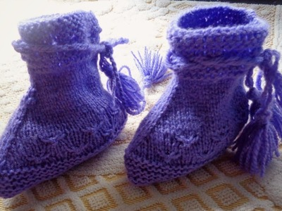 Knitting Beautiful Booties for 6-12 Months Baby