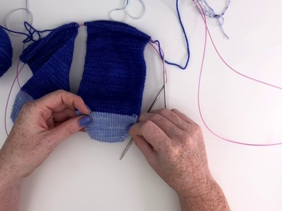 Knitting two socks at a time with Judy's magic cast on