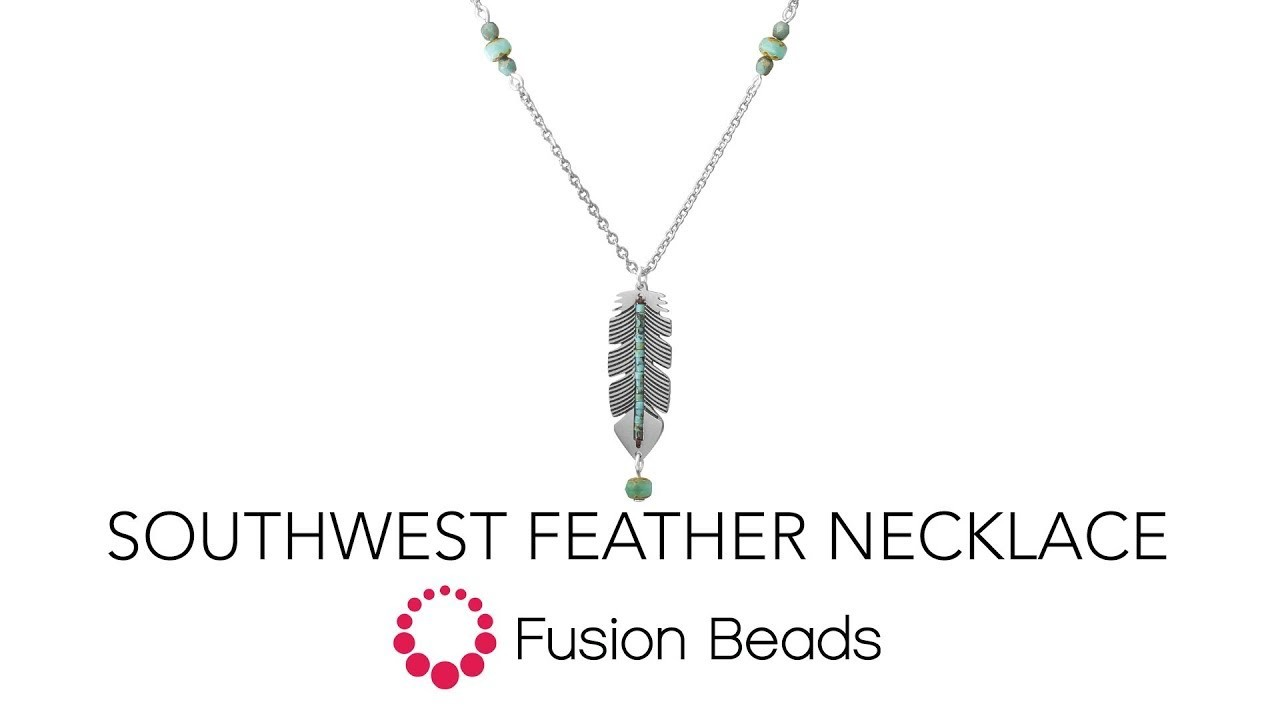 Learn how to create the Southwest Feather Necklace by Fusion Beads