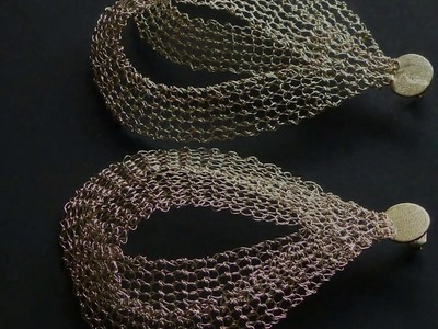 Metal Knitting - Earrings Fly by Patrícia Franco