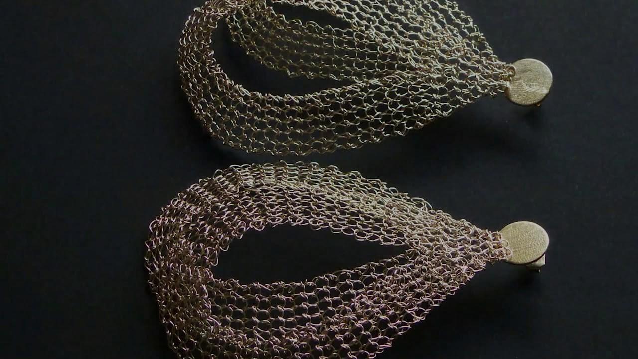Metal Knitting - Earrings Fly by Patrícia Franco