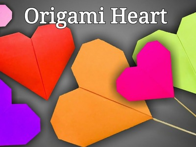 Origami Heart | Paper Heart | How To Make An Origami Heart | How To Fold A Paper Heart