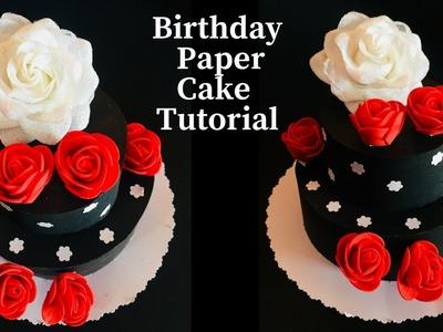 Paper Cake Tutorial | How To Make Paper Cake Easy | Birthday Paper Cake Tutorial