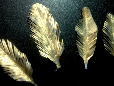 Paper feathers!!! How to make artificial feather at home-feathers from paper