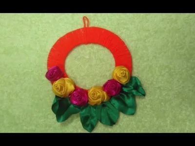 Paper flower wall hanging diy hanging flower -  Paper Crafts Ideas- (Epishode-4)