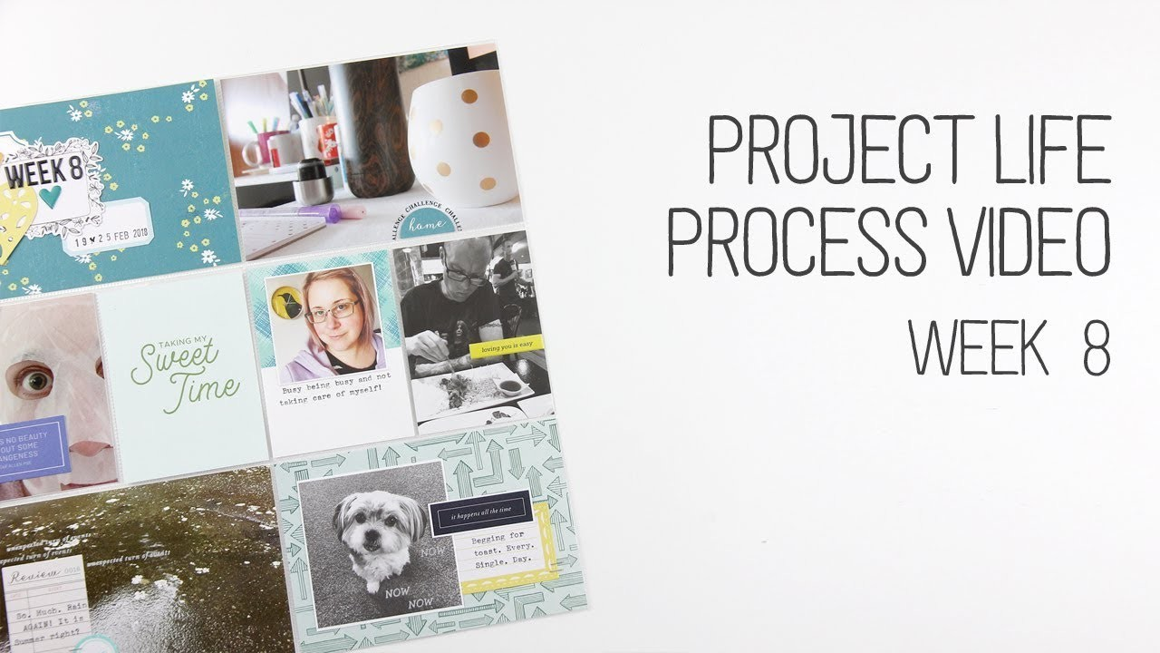 Project Life. Week 8. How to type on diecuts and cards