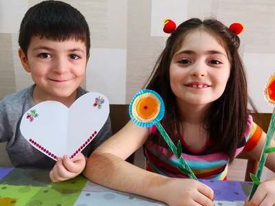 Special Video for 8 March How to Make the Gift for 8 March Daily Family Vlog Videos for Children