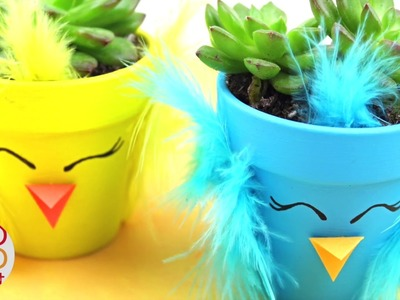 Spring Chick DIY Planter - How to make a Succulent Planter - DIY Spring Decor & Gift Idea