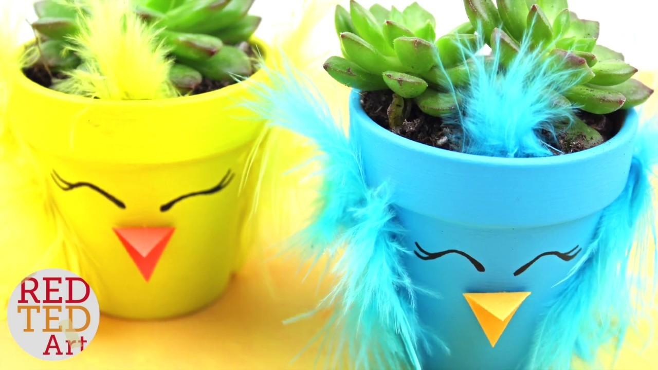 Spring Chick DIY Planter - How to make a Succulent Planter - DIY Spring Decor & Gift Idea