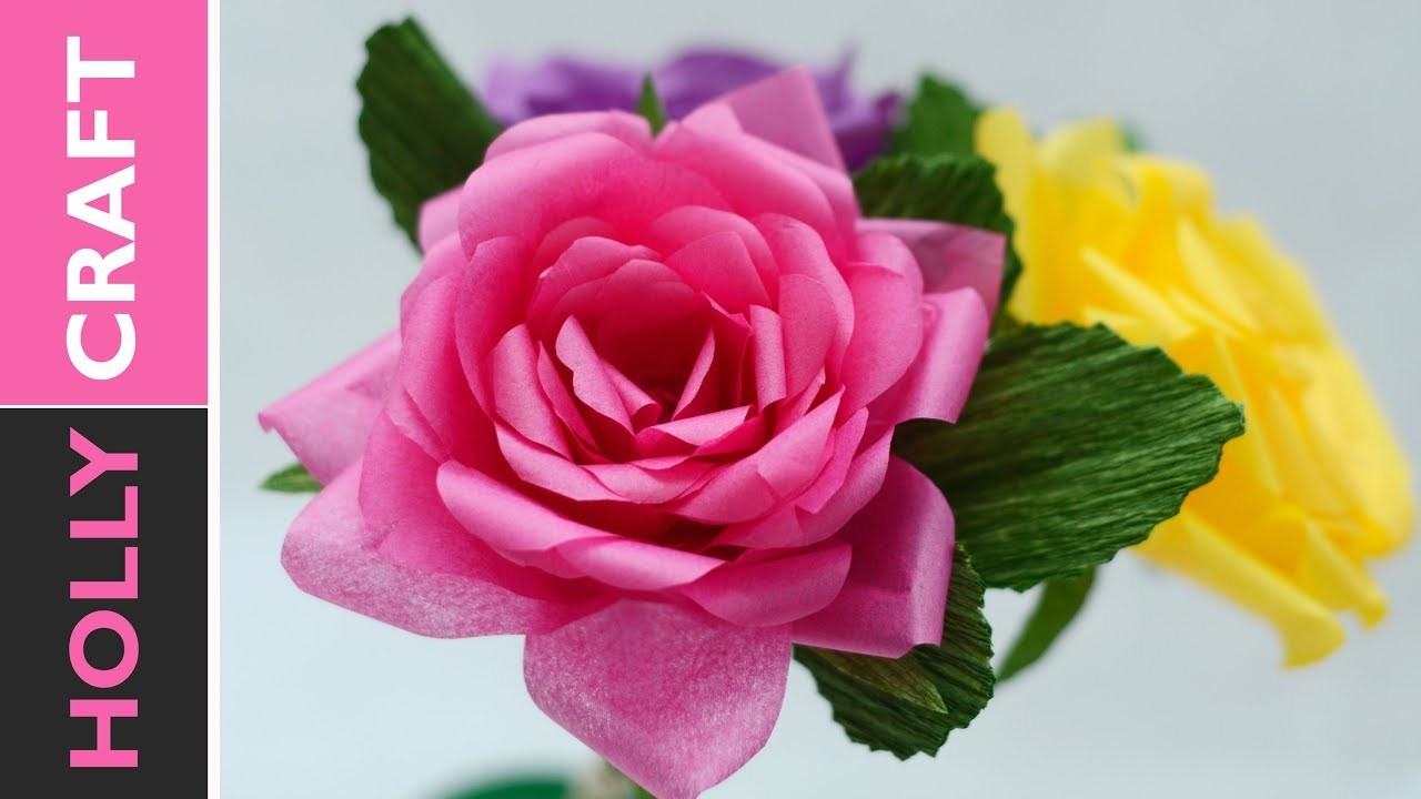 Tissue Paper Flowers How To - Realistic Roses