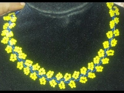 Tutorial on how to make this beaded yellow and blue leaves