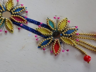 WOW! Best reuse ideas   How to Make Beaded Wall showpiece with Hair Clip For Home Decor - Craft Idea