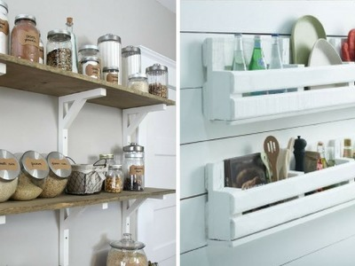 ???? 5 DIY Wood Project for More Organized Kitchen ????