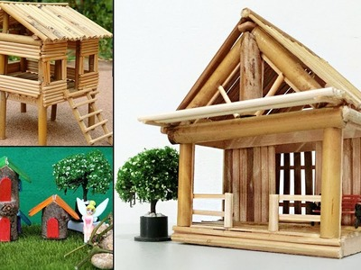 5 Easy Handmade Miniature Wooden & Bamboo Stick House #26 | DIY Crafts Ideas