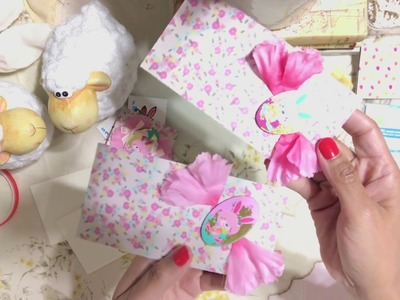 #6 Easter ???? Day Series 2018 - Easy DIY Snail Mail Mini Pocket Envelope - Pen Pal - Embellishments