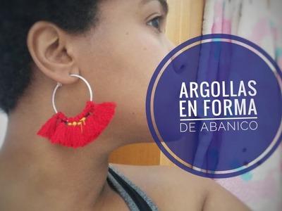 """Argollas con tipo abanico!!  """"DIY Earrings"""""""