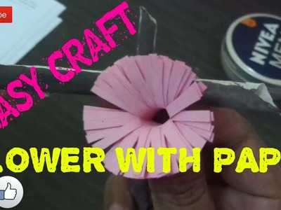 Craft Garden | Easy Paper Flower Making | Home Decor | Chinju Eldhose