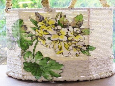 Decoupage with Fabric over a basket DIY Adult Easter basket