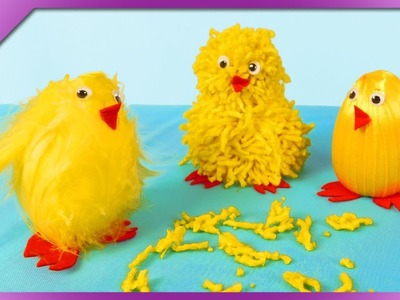 DIY 3 ways to make the chicks, out of ribbon, yarn, feathers (ENG Subtitles) - Speed up #470