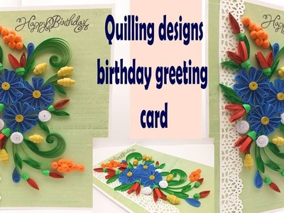 Diy birthday card | handmade greeting card | pop up card | Quilling designs | Magic Quill