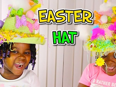 DIY BUNNY EASTER HAT CHALLENGE With Easter Eggs | Kids Easter Crafts
