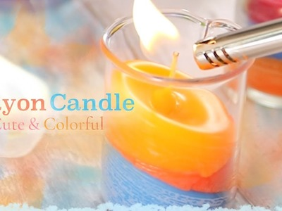 DIY: Cute and Colorful Crayon Candle*明かりがゆらゆら♪POPカワイイ「クレヨンキャンドル」を作ろう!