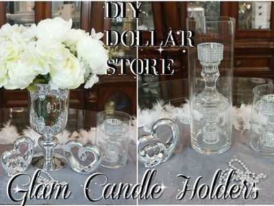 DIY | DOLLAR TREE GLAM CANDLE HOLDERS | DIY HOME DECOR IDEAS | PETALISBLESS