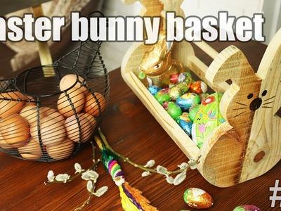 DIY Easter basket in a shape of Easter bunny