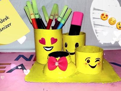 DIY Emoji Desk Organizer. Emoji Pencil Holder DIY