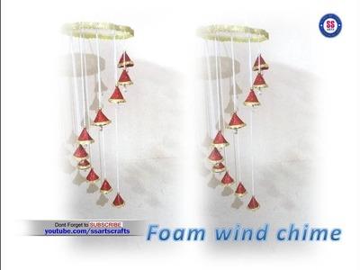DIY Foam sheet wind chime|Room decor ideas|Glitter foam kids crafts