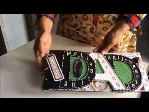 DIY gift ideas for dad.Letter Scrapbook.How to make DAD word scrapbook.Name album.Gift for Dad 2018