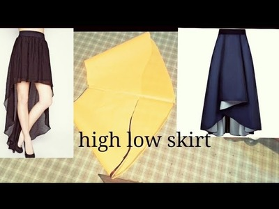 DIY.High low skirt drafting and cutting