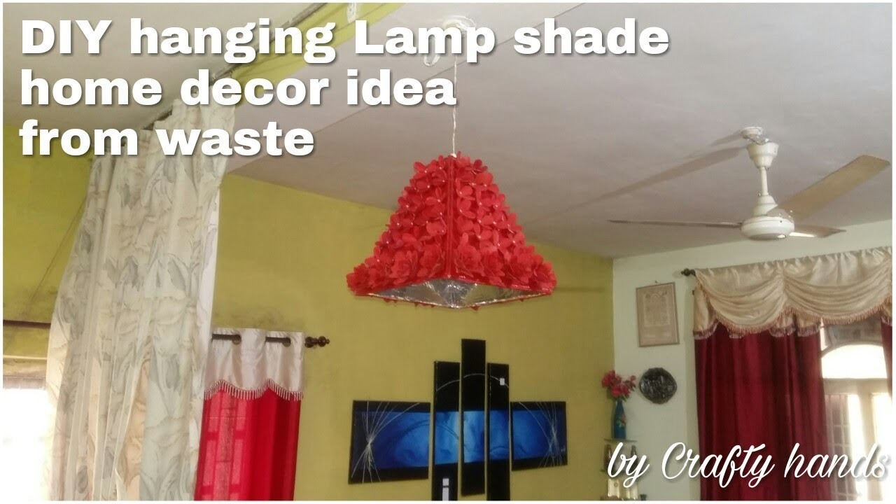 Diy|| how to make lamp shade|| best home decor idea from waste