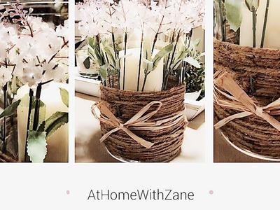 DIY Lavender Candle Hurricane    Dollar Tree DIY    Rustic Farmhouse Decor