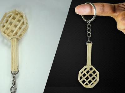 DIY Miniature Key Ring ( Made with Match Sticks!) BACKPACK TRINKET. Matchstick Art & Craft by F8ik