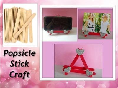 DIY Photo Frame.Mobile Stand using ice cream sticks.Popsicle sticks