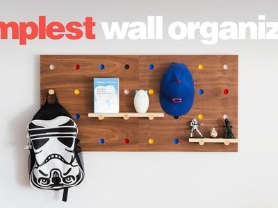 DIY Simplest Wall Organizer - Peg Wall - Woodworking