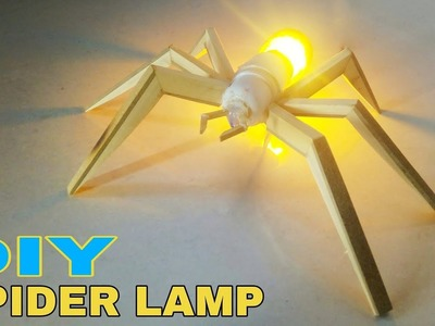 Diy Spider Lamp    Home decoration ideas