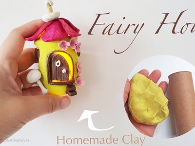 DIY Spring Fairy House - Works with Homemade Clay and Toilet Roll Tube