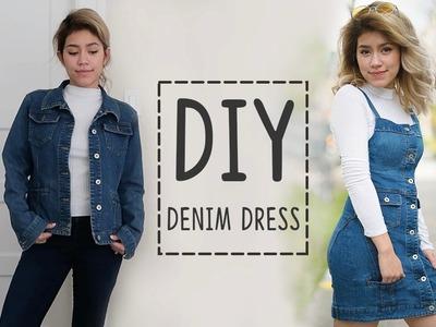 DIY TRANSFORMATION DENIM DRESS | sew&tell